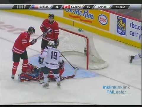 Better Quality - Dustin Tokarski ROBS Colin Wilson - Canada vs USA World Juniors - 31/12/08