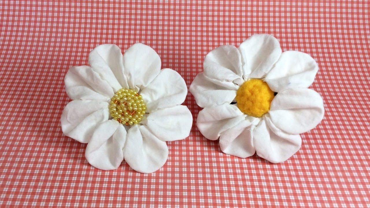 Flor De Tecido Flor De Fuxico Passo A Passo Diy Youtube