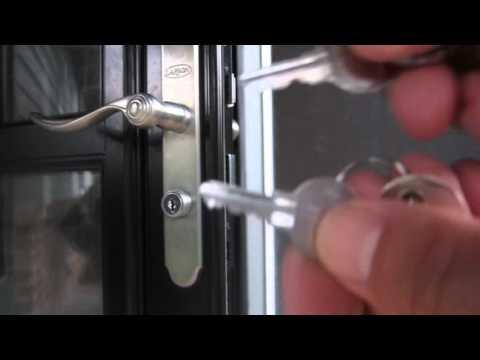 Larson Storm Door SECURITY OR PRIVACY Lock?