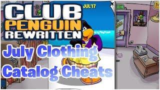 Club Penguin Rewritten: July 2017 Clothing Catalog Cheats