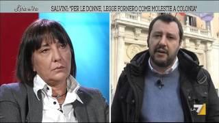 Salvini: 'Per le donne, legge Fornero come stupro'