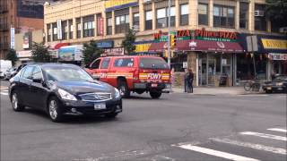 FDNY EMS SUPERVISOR 978 CRUISING BY ON CONEY ISLAND IN HOMECREST AREA OF BROOKLYN IN NEW YORK CITY.
