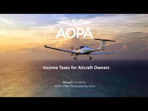 Income Taxes for Aircraft Owners webinar
