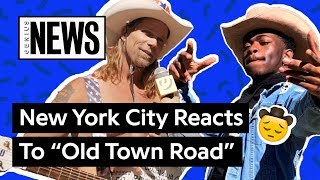 """new york city reacts to lil nas xs """"old town road"""" genius news"""