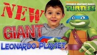 "Nickelodeon Teenage Mutant Ninja Turtle 24"" GIANT LEONARDO PALYSET Mutations (Greek)"