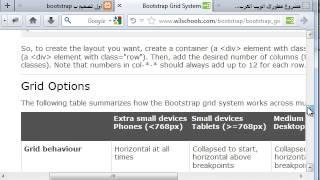 دورة bootstrap:الدرس الثالث:تخطيط تصميم الصفحة ب grid system
