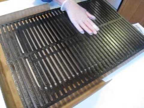 2016 03 24 seasoning a cast iron grate for weber genesis gas grill