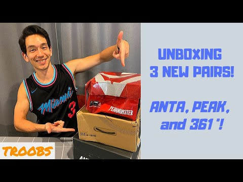 Unboxing - 3 Pairs Of Outdoor Basketball Shoes For $107AUD! Anta, Peak, 361 Degrees.