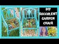 Easy DIY Succulent Garden Chair Planter Project