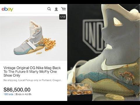 cafetería Permanecer Beca  Interview: $90K OG Nike Mag Ebay Auction with Shoezeum - YouTube