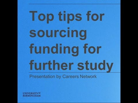 Top tips for sourcing funding for further study