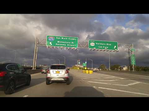 Driving from East Elmhurst to Middle Village in Queens,New York