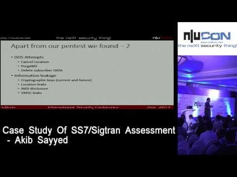 nullcon Goa 2017 - Case Study Of SS7/Sigtran Assessment by Akib Sayyed
