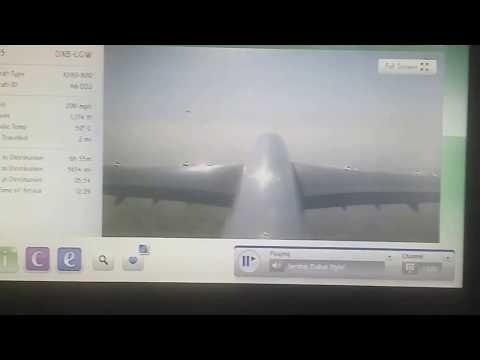 Dubai tail camera takeoff footage A380 Emirates