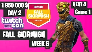 Fortnite Fall Skirmish Week 6 Heat 4 Game 1 Highlights - Fortnite TwitchCon 2018 Day 2