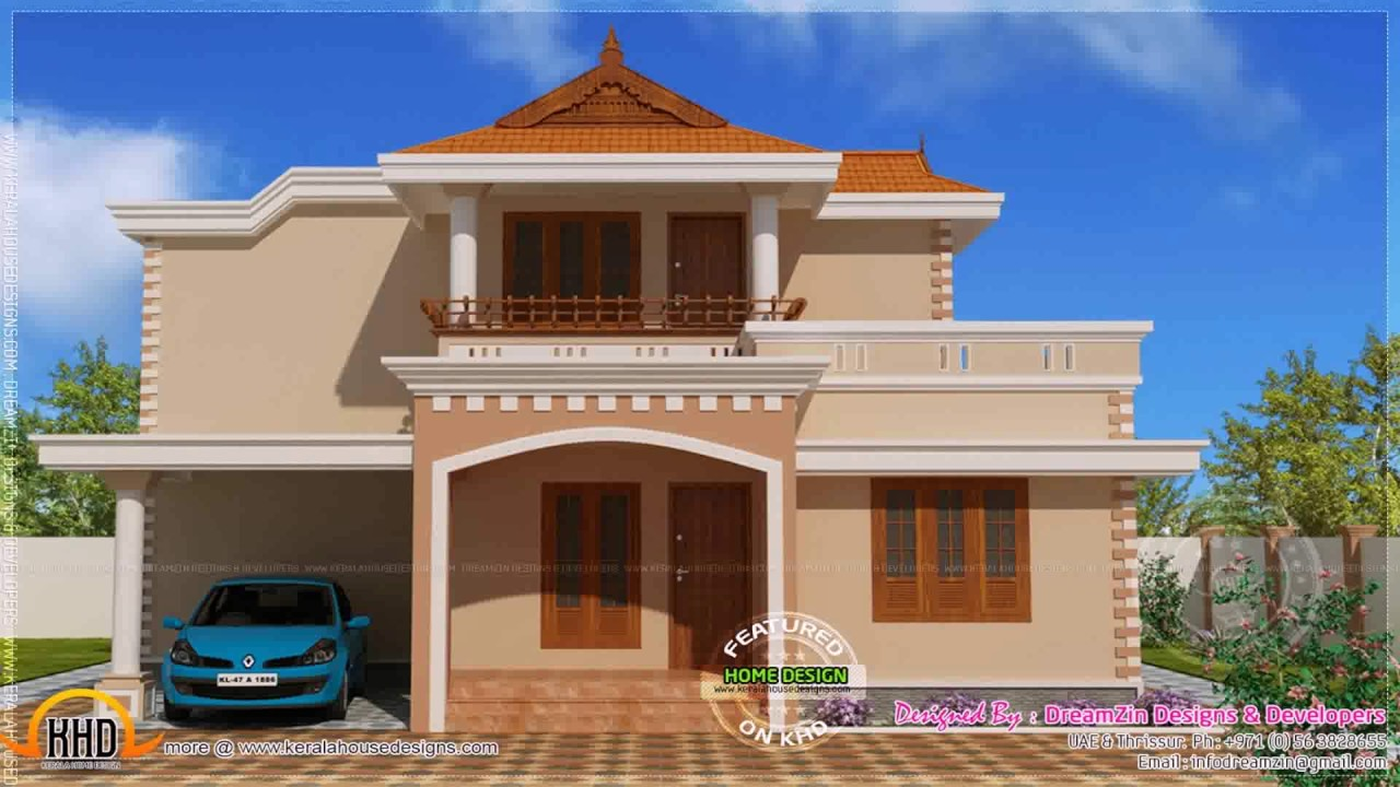 How To Make Home Front Elevation : Design front elevation indian house youtube