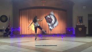 """Color Guard Routine to """"Thunder"""" - Imagine Dragons Video"""