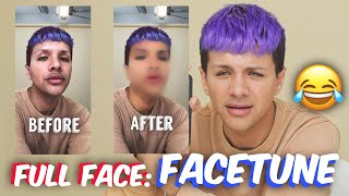 FULL FACE Using FACETUNE Makeup | Gabriel Zamora