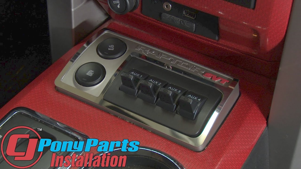 F 150 Raptor American Car Craft Auxiliary Switch Panel Trim Ring