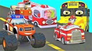 Щенячий патруль новые серии 🚒 Мультики про Машинки для детей 4 машинки Автопатруль Мультфильмы 2017