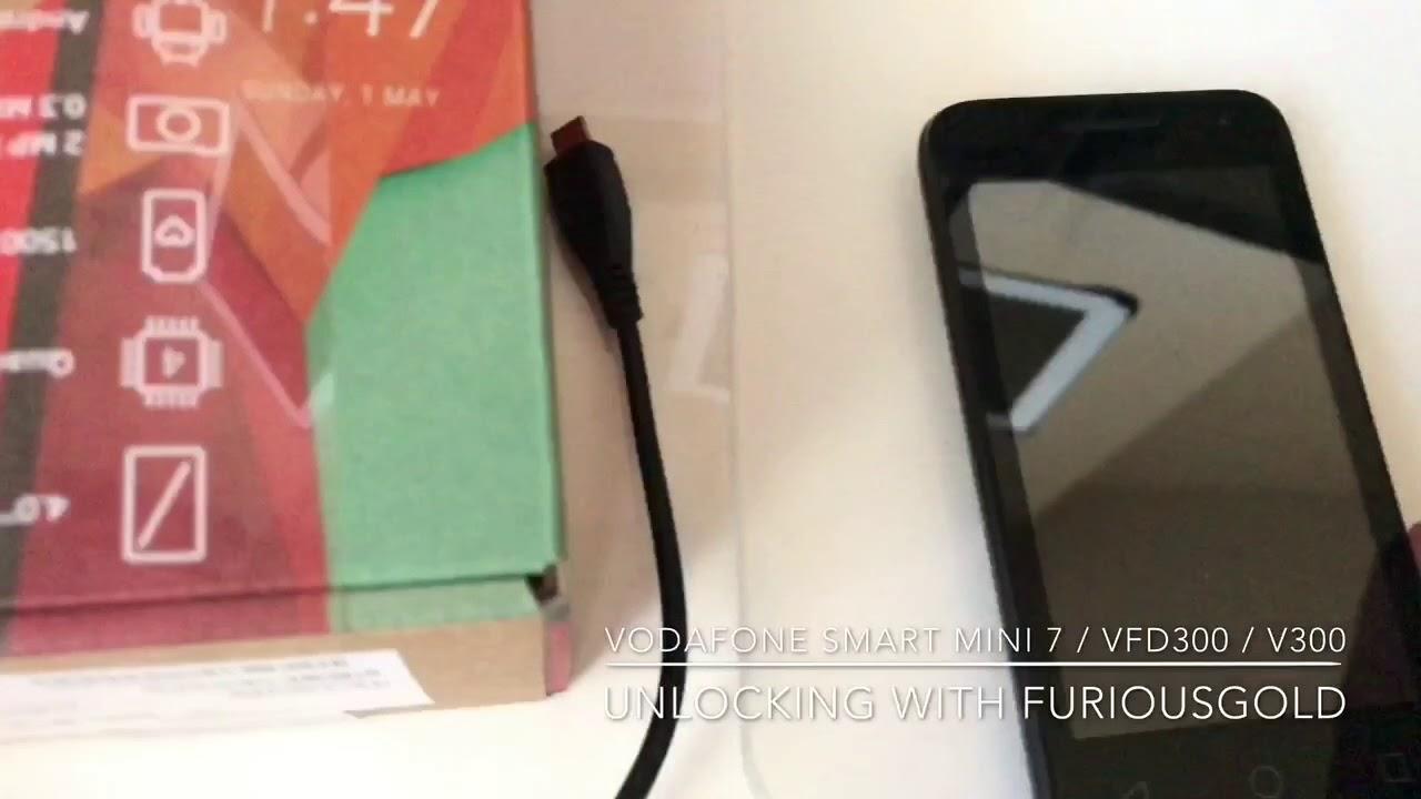 How To Cancel Vodafone Contract >> VODAFONE SMART MINI 7 / VFD300 / V300 UNLOCKING USING FURIOUSGOLD - YouTube