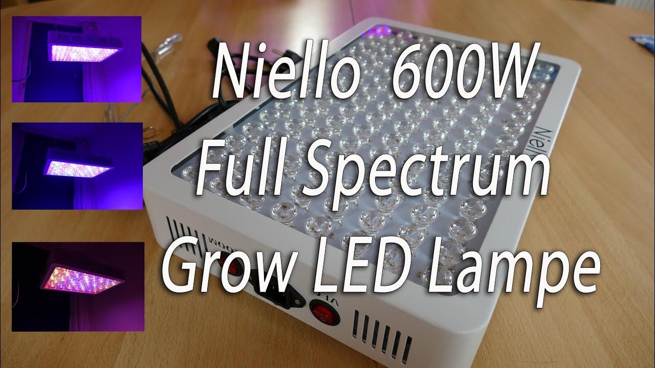 Niello 600w full spectrum crow led lampe youtube niello 600w full spectrum crow led lampe parisarafo Choice Image