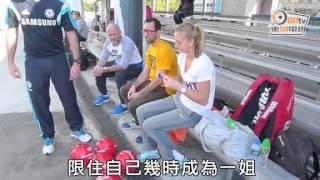 20150101 on cc報導 捷克靚女姬維杜娃訪港 同細路大玩特玩