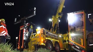 28.01.2020 - VN24 - 'The Beast' Rotator in use for semi-trailer truck recovery
