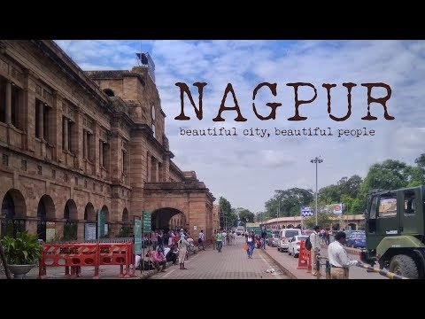 Nagpur - beautiful city buildings around Railway station!