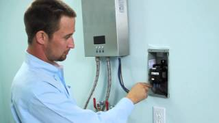 installation of electric tankless water heater eco180