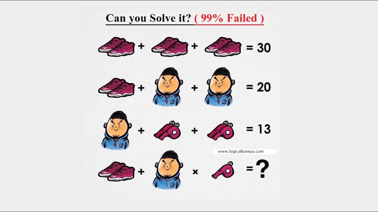 Can you Solve this Shoe, Whistle and Man puzzle?