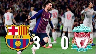 Lionel messi scored twice for barcelona as they beat liverpool 3-0 at the camp nou on wednesday night. messi's second goal was a truly stunning free-kick fro...