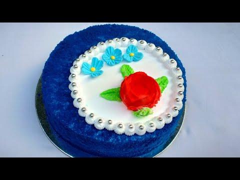 രുചിയൂറും ബ്ലൂ വെൽവെറ്റ് കേക്ക് || BLUE VELVET CAKE RECIPE IN MALAYALAM|| NOUFA'S KITCHEN