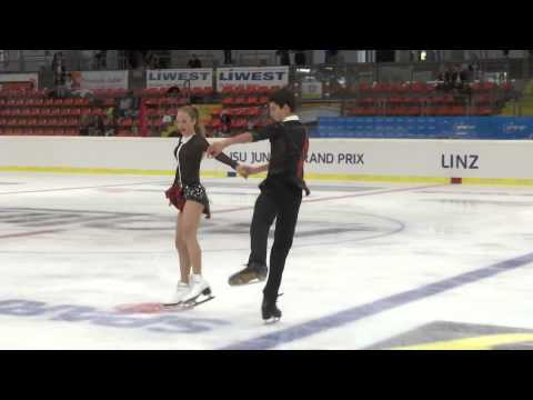 2015 ISU Jr. Grand Prix - Linz Free Dance Julia WAGRET / Mat