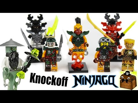 Ninjago Knockoff LEGO Minifigures 2017 - YouTube