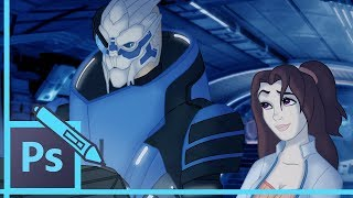 Watch Me Draw - Mass Effect: Garrus & Paige