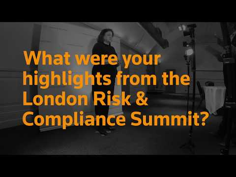 The tsunami of regulation – TR London Risk and Compliance Summit 2018