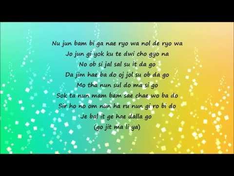 Big Bang - Lies (easy lyrics)