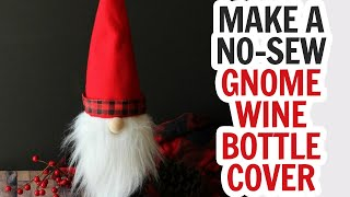 Details about  /4pcs Gnomes Christmas Wine Bottle Cover Bag//Christmas Topper