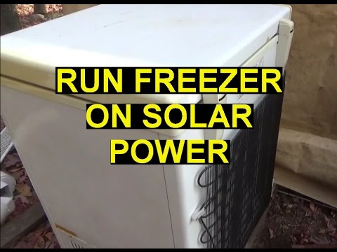 Attempt To Run Freezer On Off Grid Solar Power