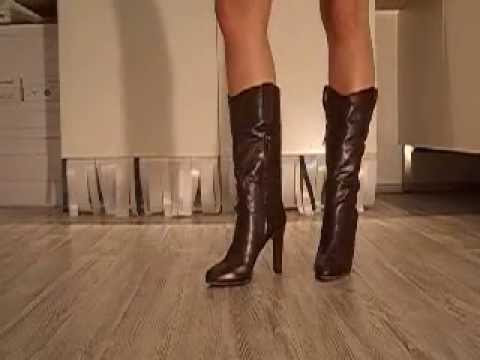 high heel stiefel poletto rito braun avi youtube. Black Bedroom Furniture Sets. Home Design Ideas