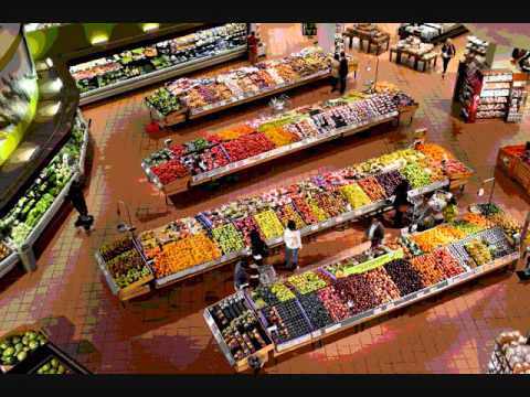 Grocery store (supermarket) ambient noise - Sound effects