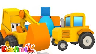 Toy Trucks: Excavator Max Surprise Egg & TRACTOR Playground Game!