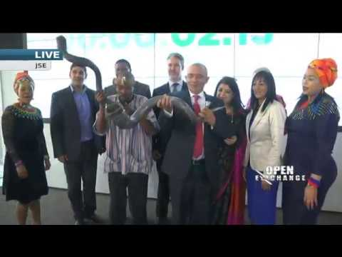 CNBC Africa Executive team opens the JSE in celebration of 10 years