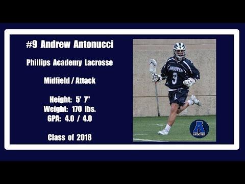 2016 Phillips Andover Lacrosse #9 Andrew Antonucci
