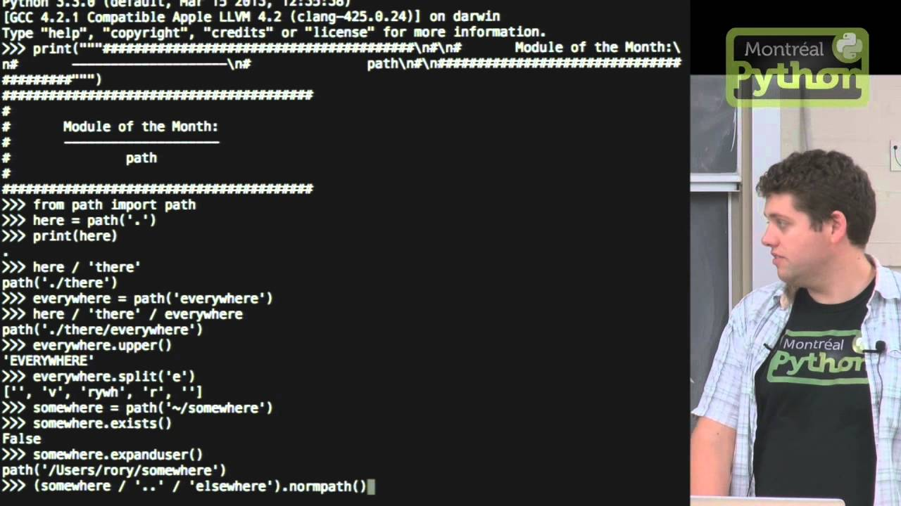Image from Module of the month: path.py