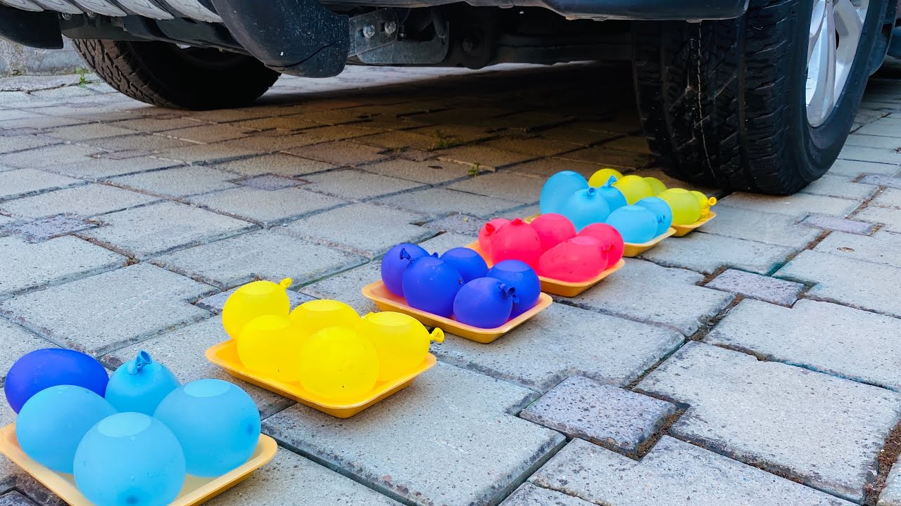 Experiment Car Crushing Crushing &Soft Things By Car Ballons Toys.EXPERİMENT: #59