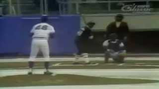 MLB played in the snow 1977
