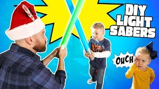 DIY Star Wars LightSabers for Jedi Kids! Do it Yourself Gear Test by KIDCITY
