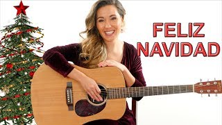 Feliz Navidad - EASY Guitar Tutorial with Play Along